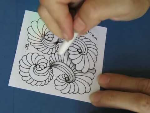 In this video I will demonstrate a few Zentangle ideas. I also show how using Tim Holtz distress inks can add a unique twist to your artwork. another video u...