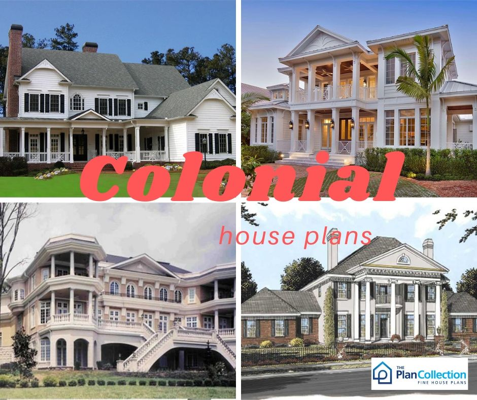Colonial Style Homes Are Generally One To Two Story Homes With A Very Simple And Efficient Design This Archite Colonial House Plans House Plans Colonial House