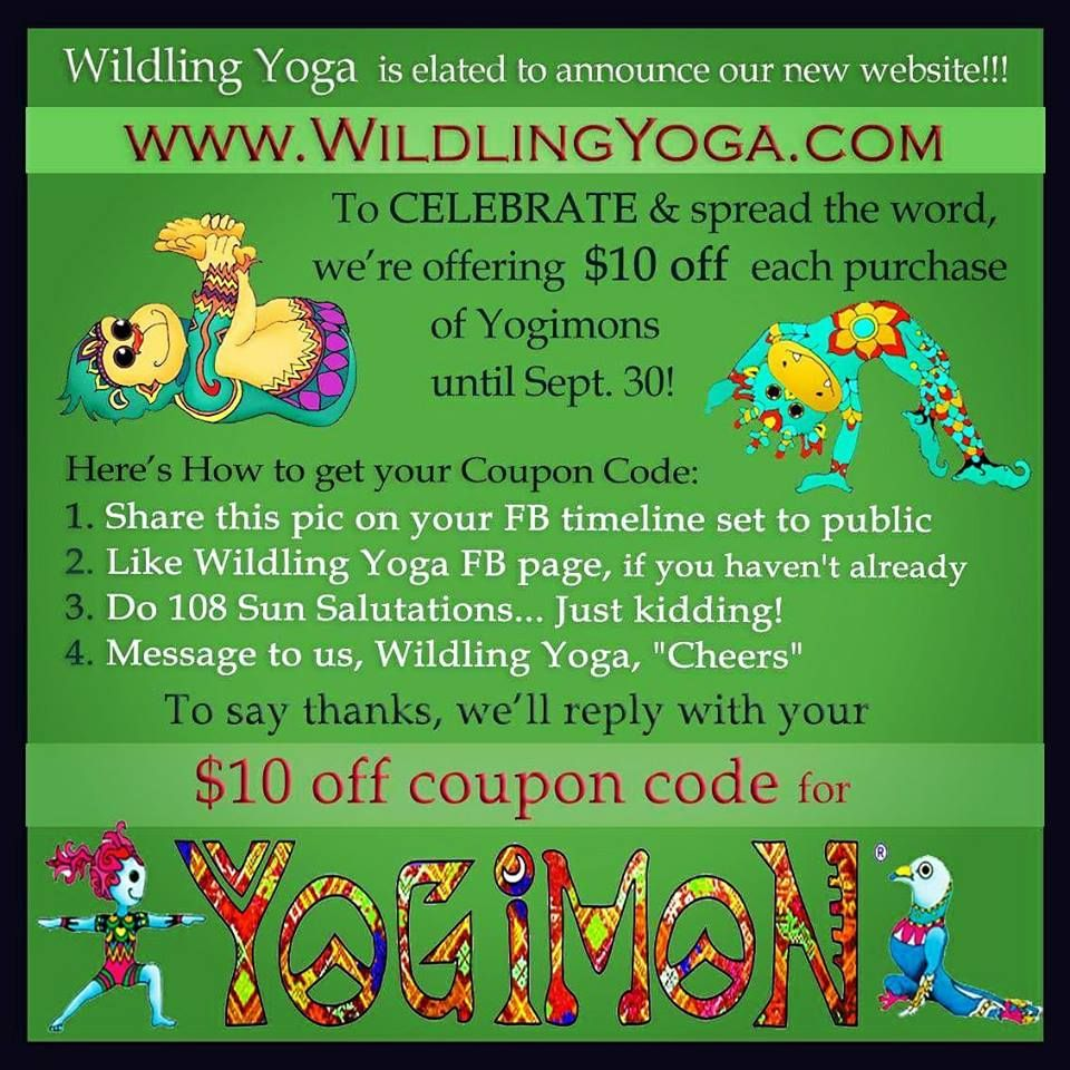 YOGIMON Yoga Pose Cards For ALL Kids Adults Colorful Zentangle Animals Do Mindfulness Meditation Games Chakra Wildling Wildlings Tribe