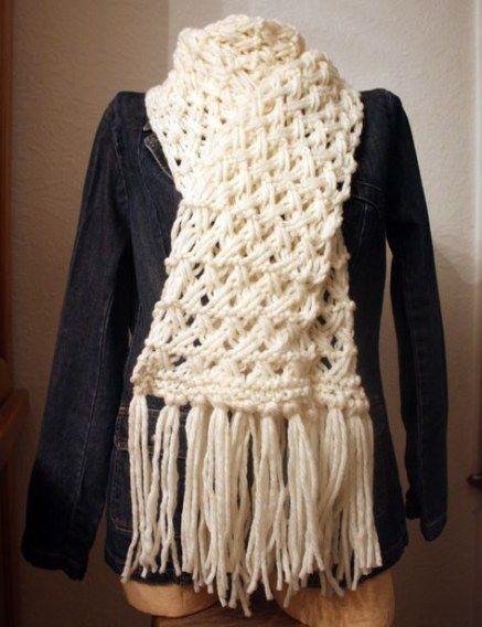 Best Knitting Scarf Pattern Free Chunky Ideas #knitting ...