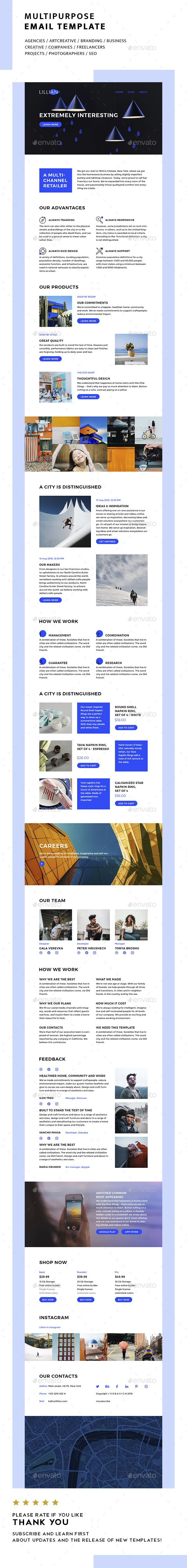 lillyan multipurpose email template multipurpose lillyan