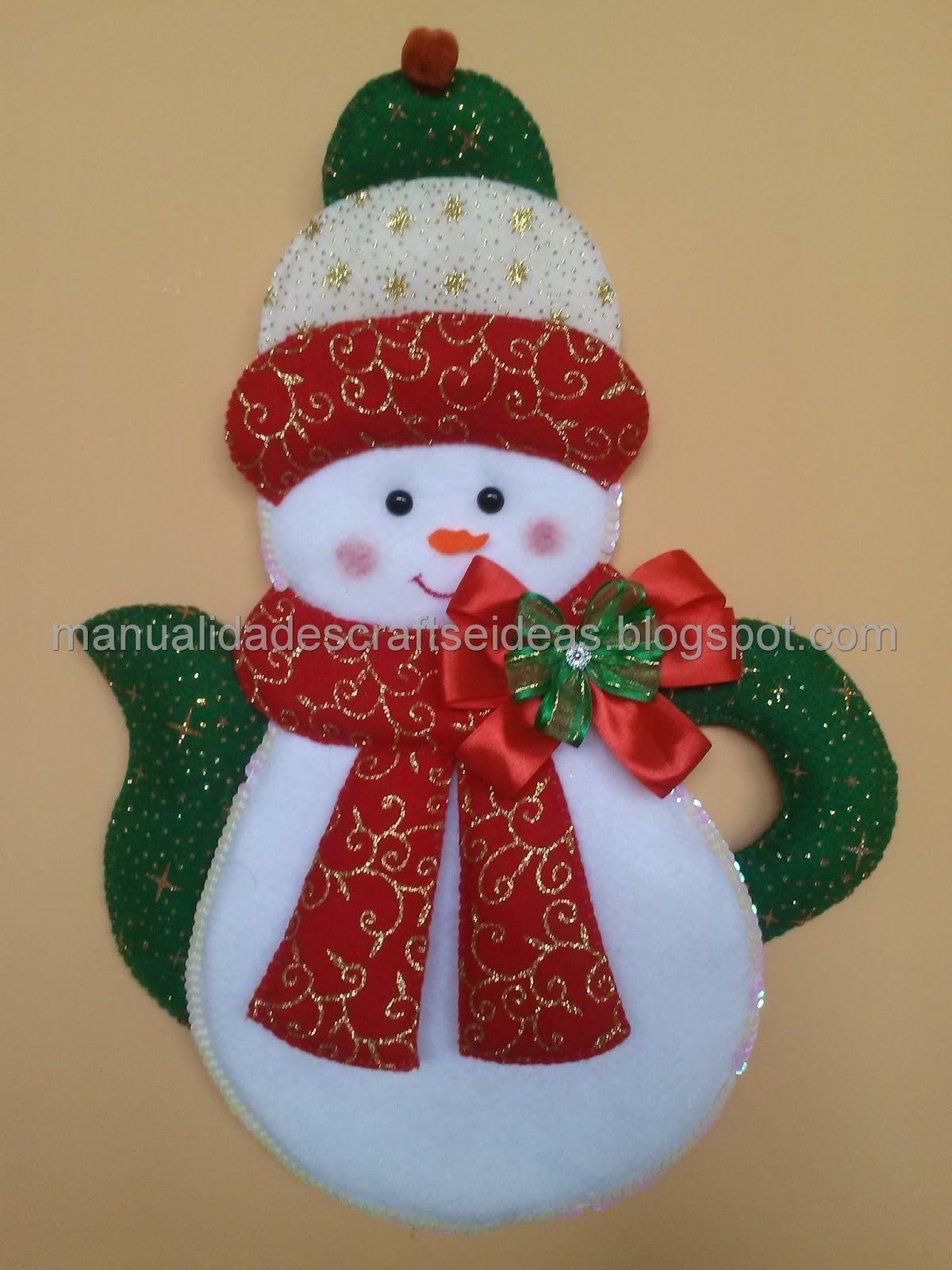 Mu ecos nieves teteras navide as pa o lency fieltro for Navidad adornos manualidades navidenas