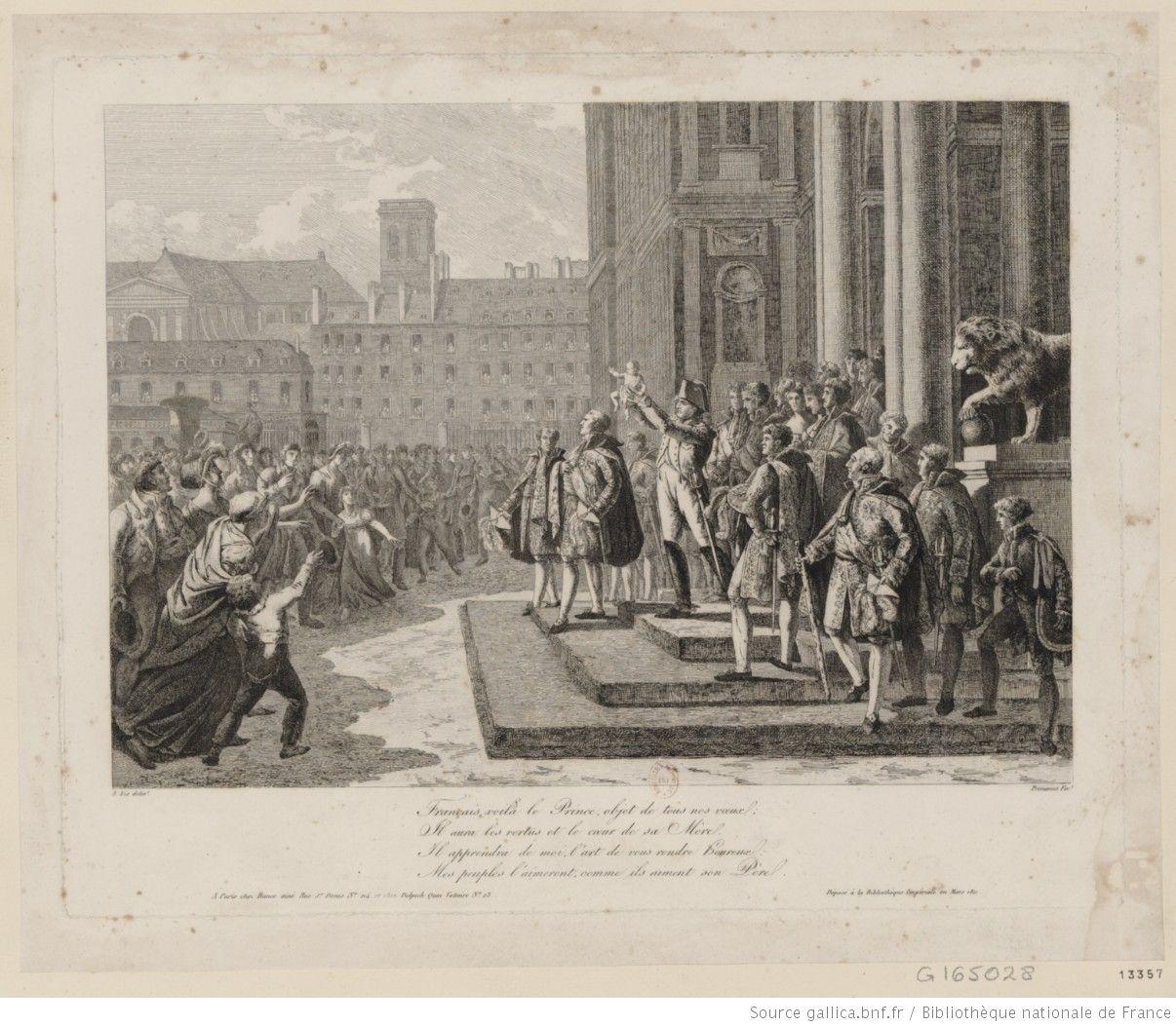 Napoléon I.er montrant le Roi de Rome au peuple : [estampe]