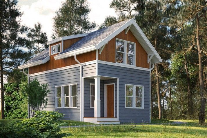 Tiny Home Designs: Backyard Cottage--800 Square Feet, 400 Sf Footprint, 2