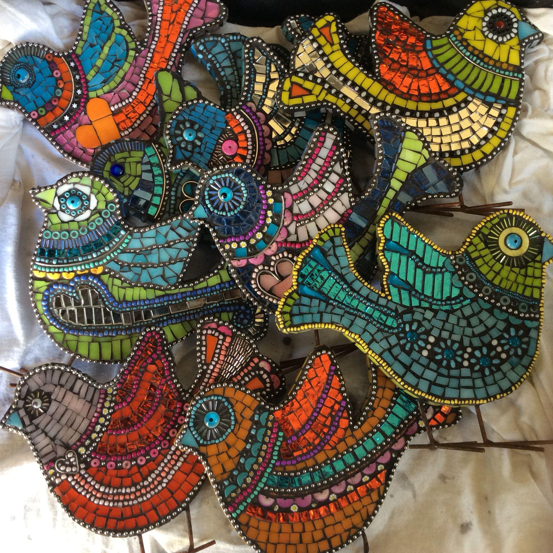Mosaic birdies | mosaics | Pinterest