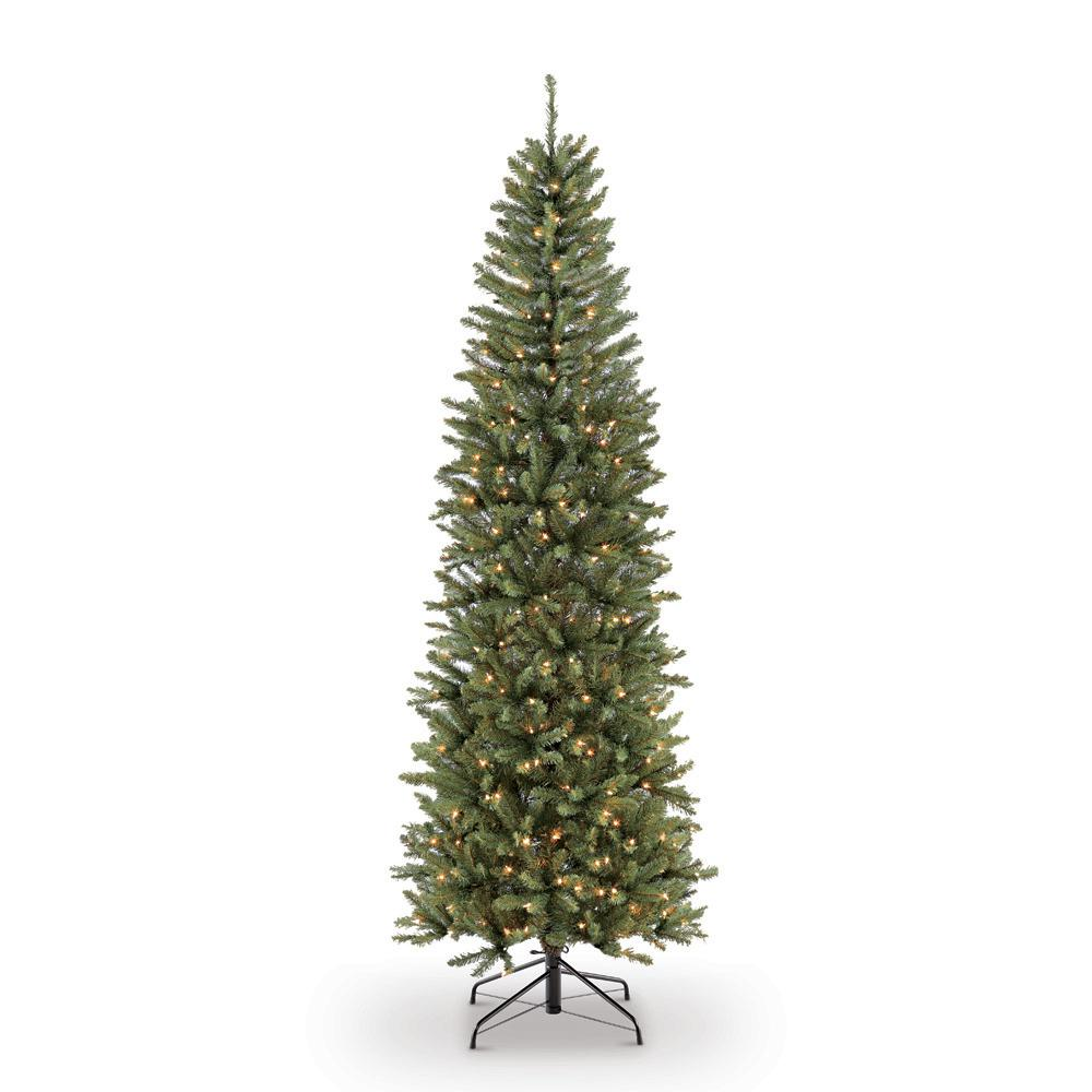 Puleo International 6 5 Ft Pre Lit Incandescent Fraser Fir Pencil Artificial Christmas Tree With 250 Ul Clear Lights 277 Ffpt 65c25 Pencil Christmas Tree Fraser Fir Christmas Tree Fir Christmas Tree