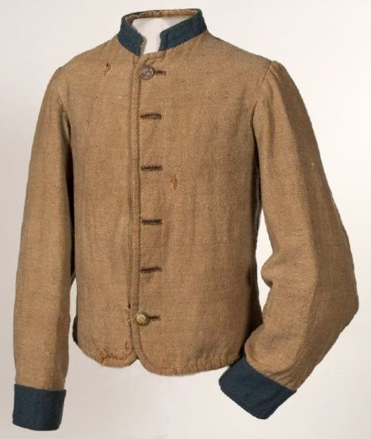 0ed9d9075f3e Columbus Depot Jacket worn by Pvt. David Fenimore Cooper Weller, Company C,  2nd Kentucky Infantry Regiment-The Orphan Brigade.