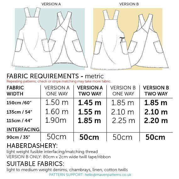 The Maria Wrap Apron PDF sewing pattern Japanese apron | costureo ...