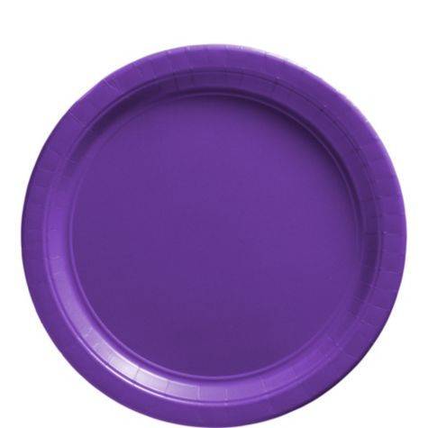 Purple Paper Lunch Plates 20ct - Paper Plastic Plates - Solid Color Tableware - Categories - Party City  sc 1 st  Pinterest & Purple Paper Lunch Plates 20ct - Paper Plastic Plates - Solid Color ...