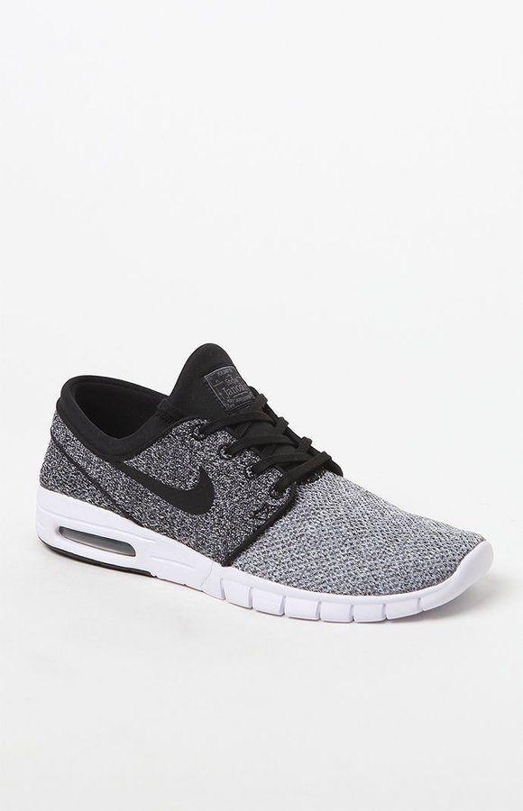 Nike SB Stefan Janoski Max Knit White & Black Shoes