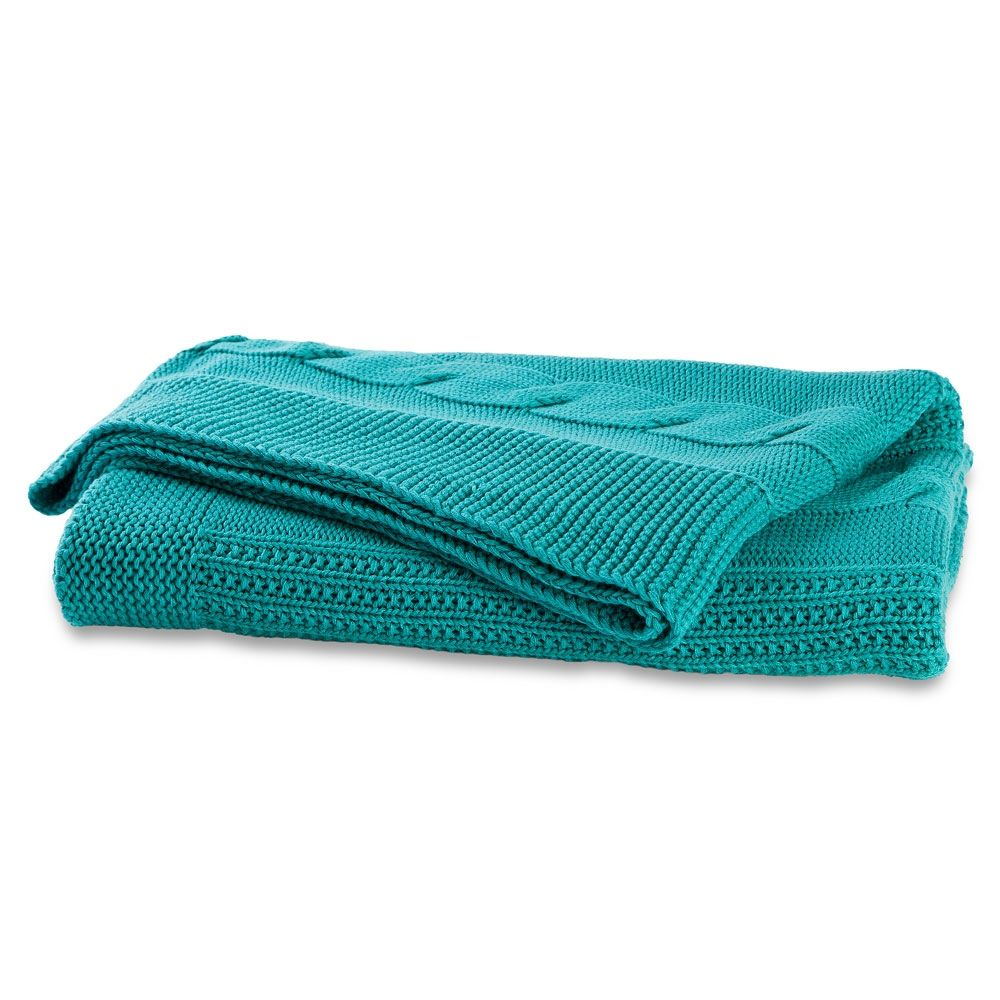 Cable knit ocean throw / hardtofind.