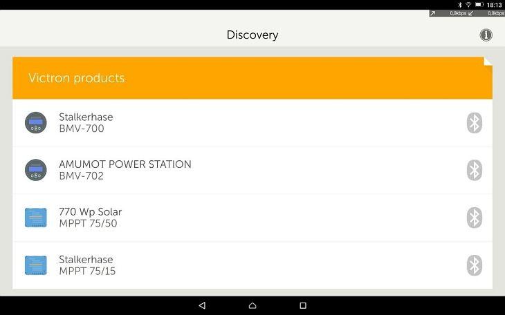 Bluetooth Dongle und Anzeige von Victron Energy | AMUMOT