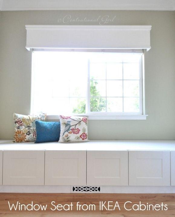 32 Dining Room Storage Ideas: Under Window Storage Ikea Cabinets Design Ideas 860