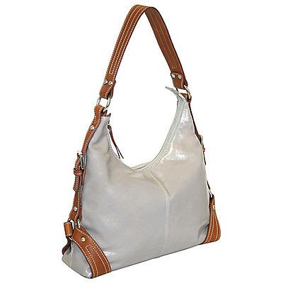 Nino Bossi Top Zip Hobo With Contrast Strap Detail