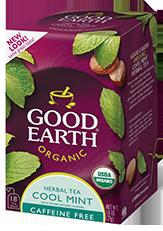 Cool Mint  Organic Tea. Good Earth Tea. My favorite.