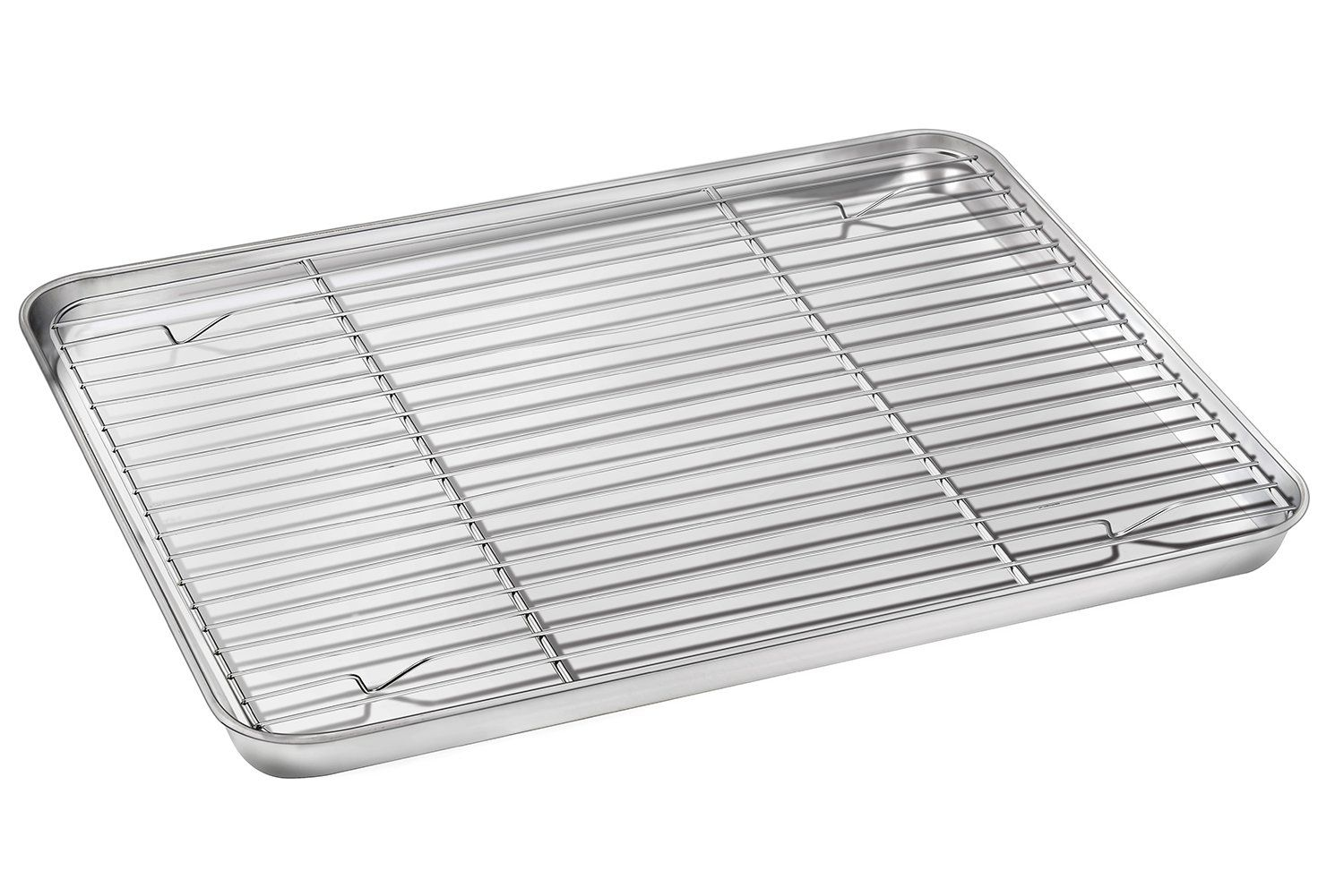 Baking Sheet With Rack Set E Far Stainless Steel Baking Pan Cookie Pan With Cooling Rack 16 X 12 X 1 Inch Rust Free An Pan Cookies Baking Pans Cooling Racks
