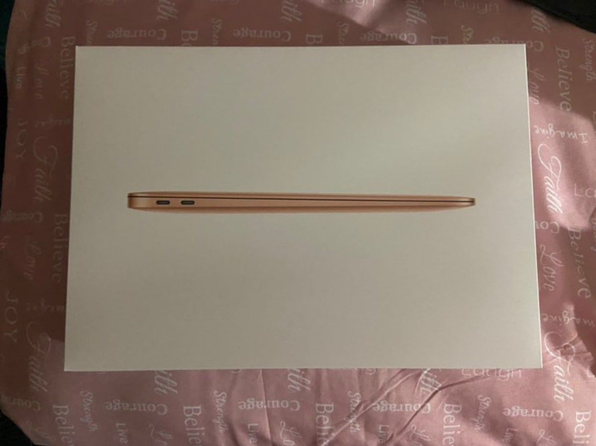 Macbook Air 2019 Box Only In 2020 Rose Gold Macbook Air Macbook Macbook Air Stickers