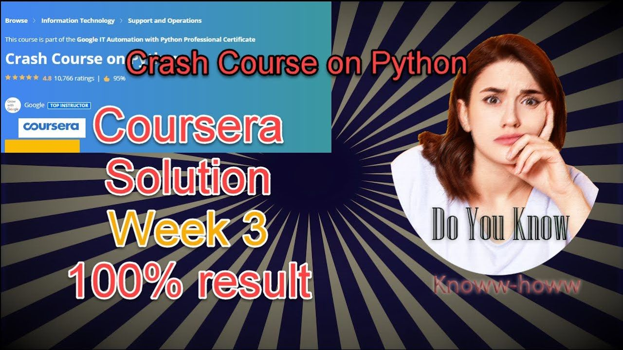 Crash Course On Python Coursera Week 3 Solution Full Solved Crash Course Solutions Word Cloud
