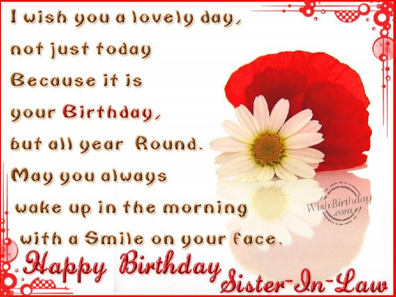 Happy Birthday Wishes Sisterinlaw 25881walljpg – Birthday Greeting for Sister