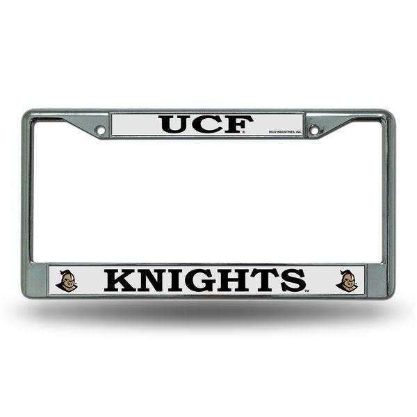 Best Central Florida Golden Knights Chrome License Plate Frame 400 x 300
