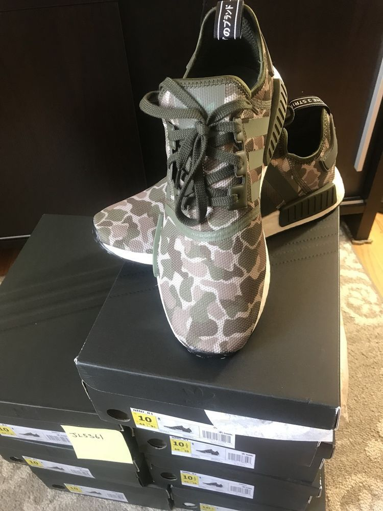 newest collection 08427 d0218 D96617 NEW MENS ADIDAS ORIGINALS NMDR1 DUCK CAMO SESAME CARGO GREEN SIZE  10.5 fashion clothing shoes accessories mensshoes athleticshoes ad  (ebay ...