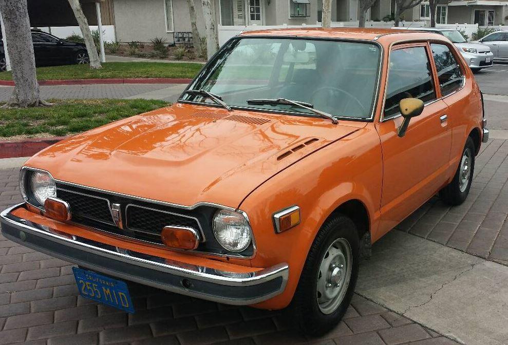 Orange 4 Speed First Gen 1974 Honda Civic With Images Honda