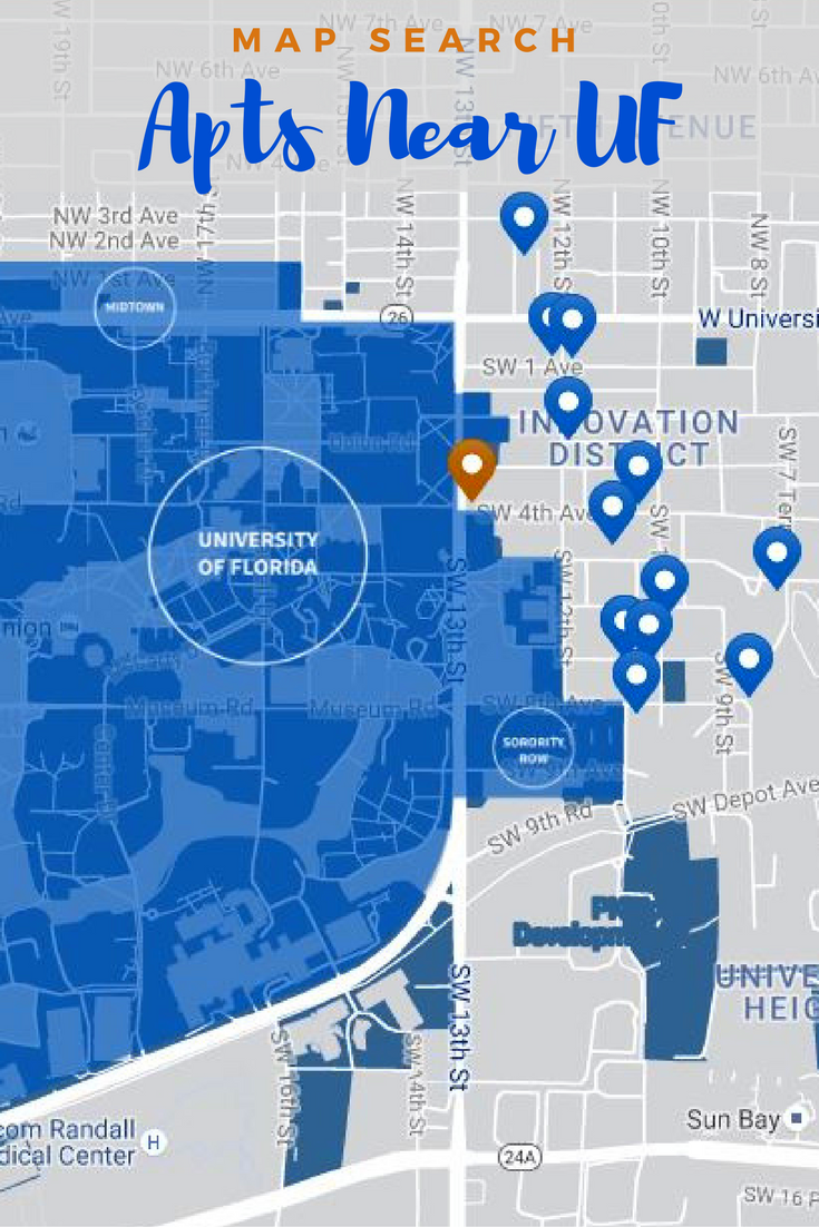 University Of Florida Map.Search For The Closest Apartments Houses And Dorms To The