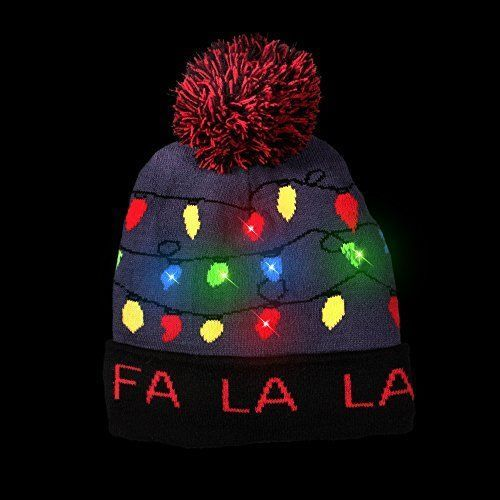 LED Light-up Knitted Ugly Sweater Holiday Xmas Christmas Beanie - 3  Flashing Mod  fashion  clothing  shoes  accessories   unisexclothingshoesaccs ... 34dd026ccfc0