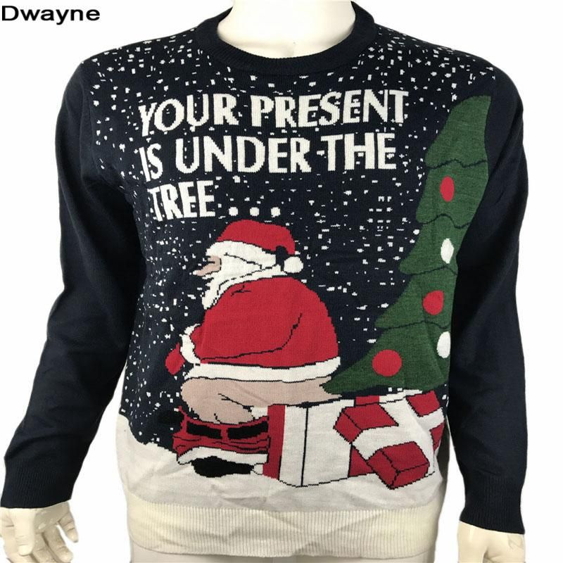 5b773c5dc Funny Ugly Christmas Sweaters for Men and Women Knitted Naughty Dirty Jokes  Puns Pullover Xmas Sweater Plus Size M-XL