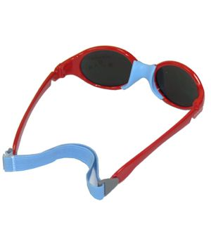 prix de détail variété de dessins et de couleurs la plus récente technologie lunettes de soleil bébé rouge et bleu ciel, marque Piwee, en ...