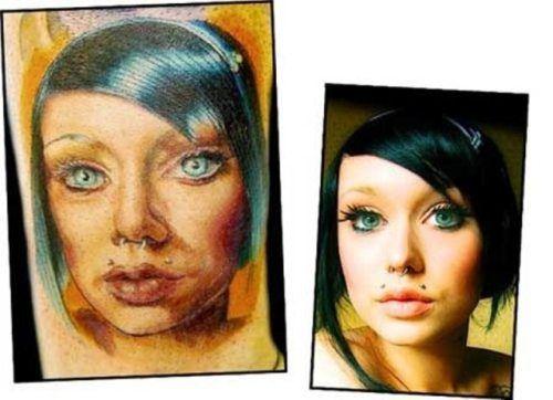 tattoos -tried to replicate a photograph and failed - Portrait Fails