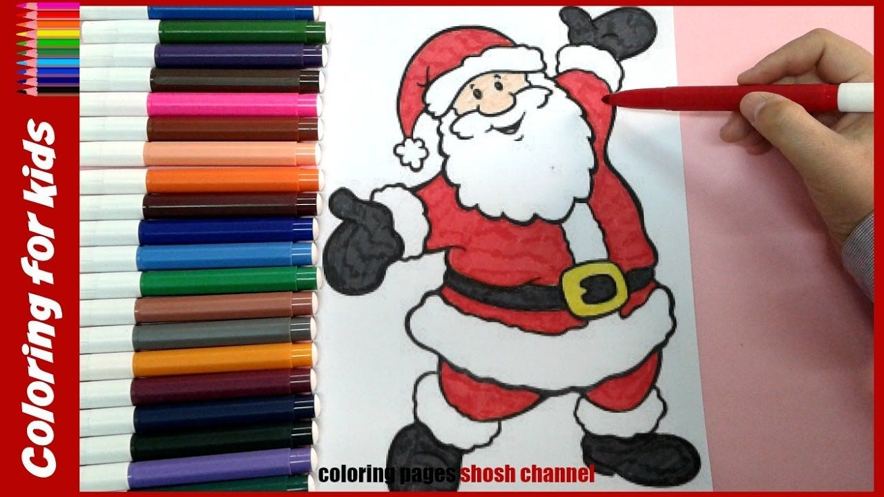santa coloring pages for toddlers christmas coloring video from coloring pages shosh channel