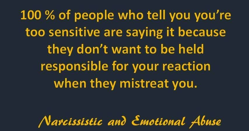 why people are overly sensitive