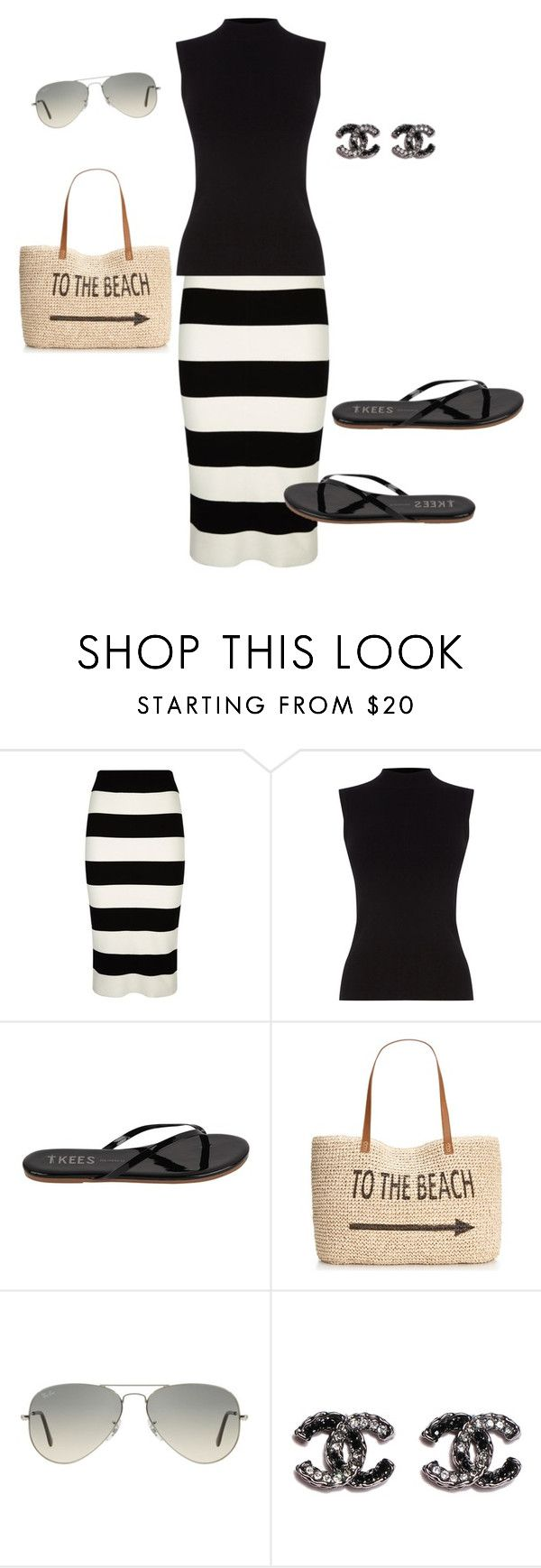 """Untitled #116"" by ccoss ❤ liked on Polyvore featuring Milly, Oasis, Tkees, Style & Co. and Ray-Ban"