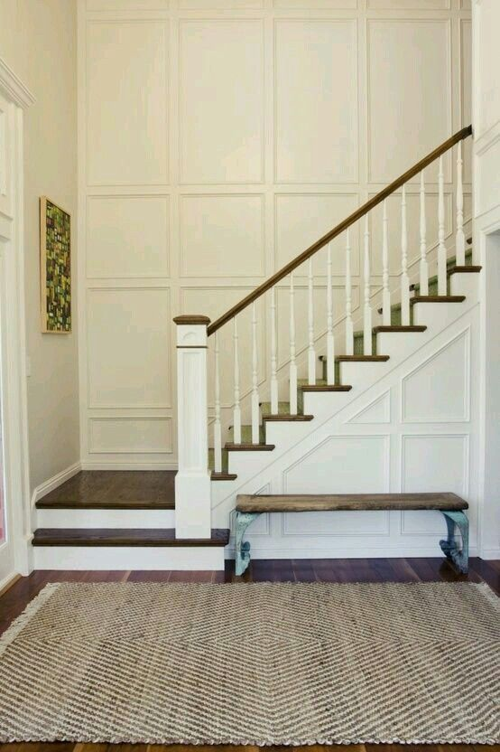 Milk And Honey Wainscoting Stairs   Newel Post On Last Step (Basement Step  With Landing)