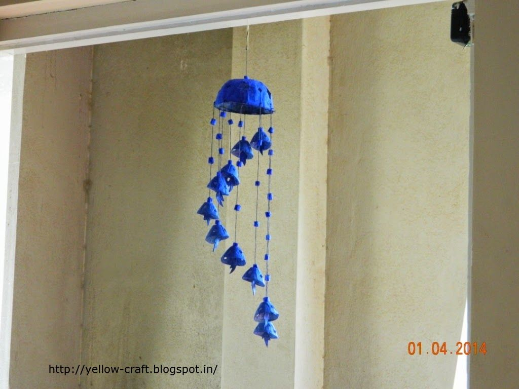 Can you believe that this wind chime is made with waste for Hand work from waste materials