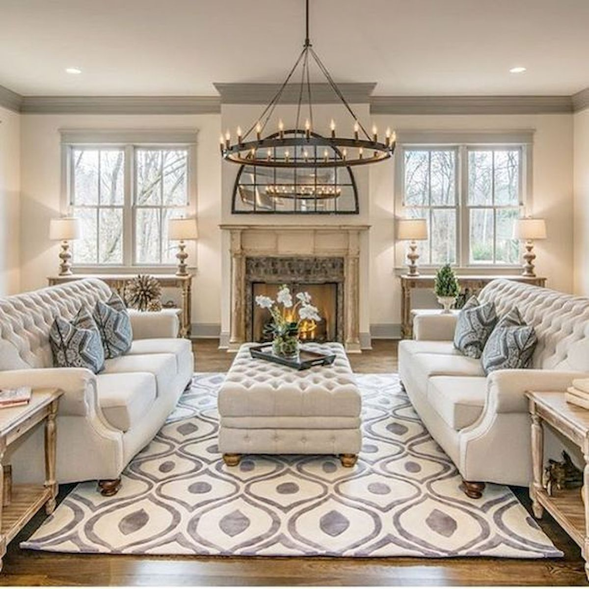 30 Elegant Farmhouse Living Room Decor Ideas
