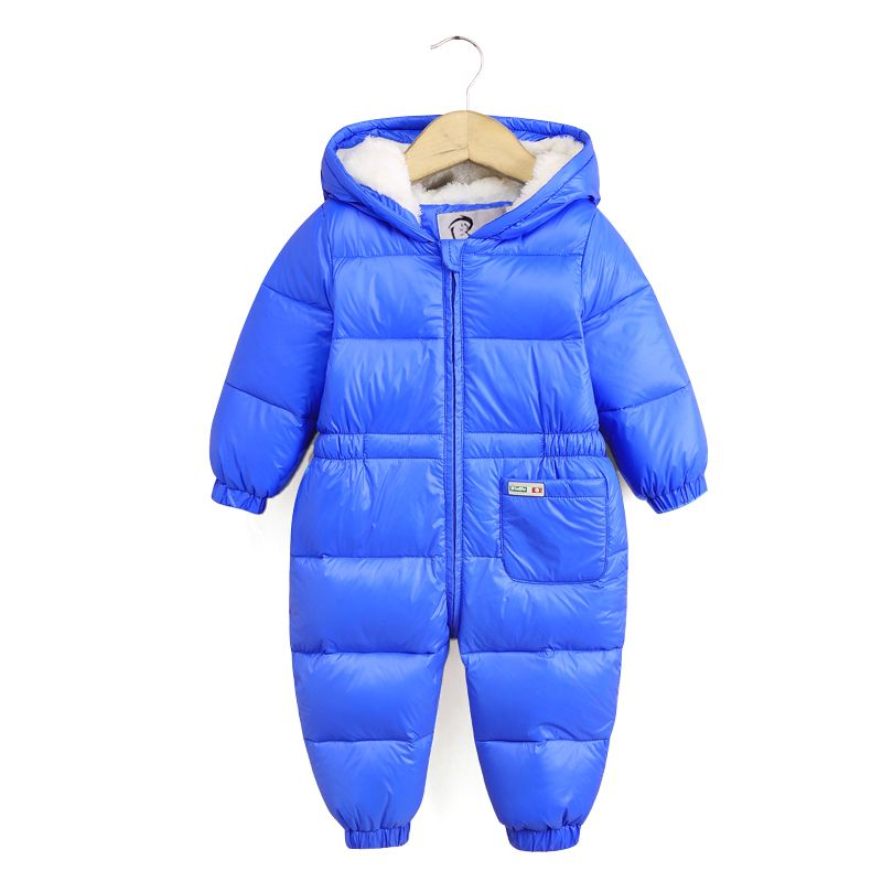 5534fa5569d0 Down Baby Rompers Winter Thick Boys Costumes Girls Warm Infant ...