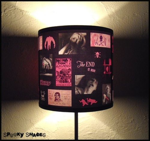 Pink horror lamp shade lampshade is ideal for halloween halloween pink horror lamp shade lampshade is ideal for halloween aloadofball Choice Image