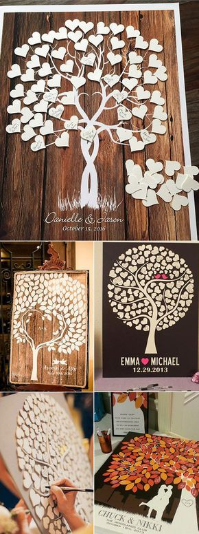 20 Must-See Non-Traditional Wedding Guest Book Alternatives #bruiloften