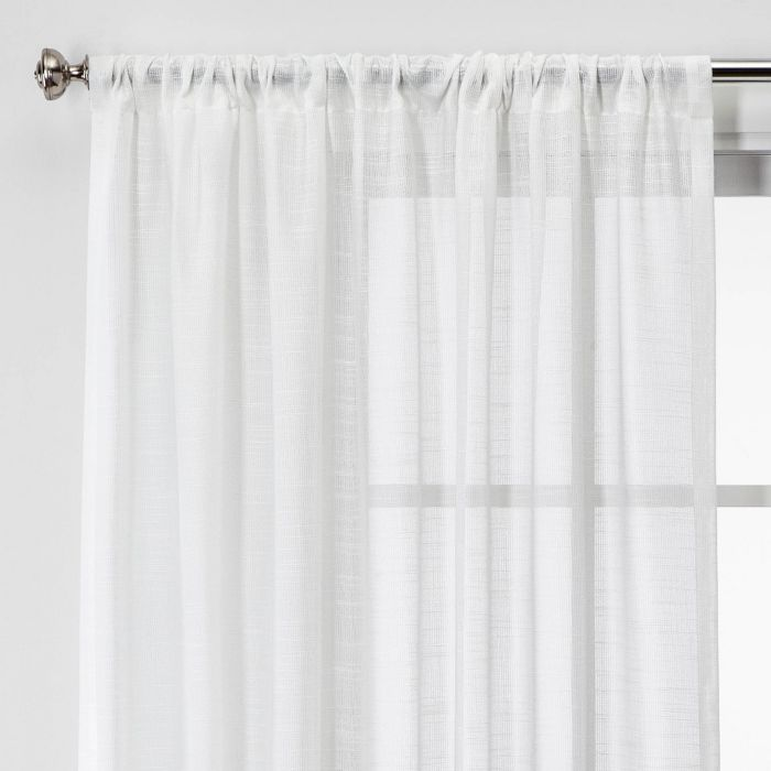 84 X54 Open Weave Sheer Window Curtain Panel White Project 62