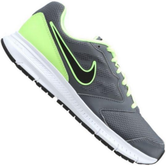 Tênis Nike DownShifter 6 MSL Masculino Cinza Verde Limão