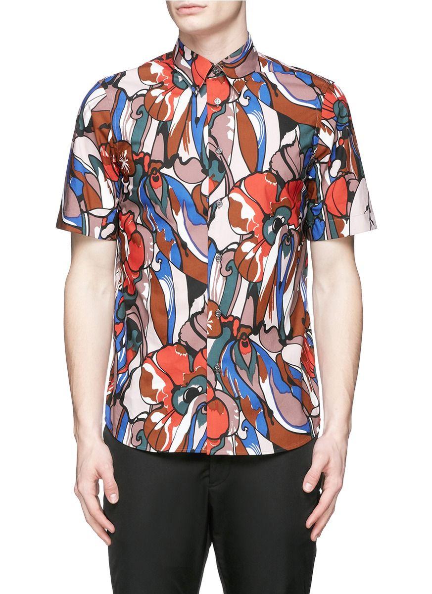 MARNI Floral Print Cotton Poplin Shirt. #marni #cloth #shirt