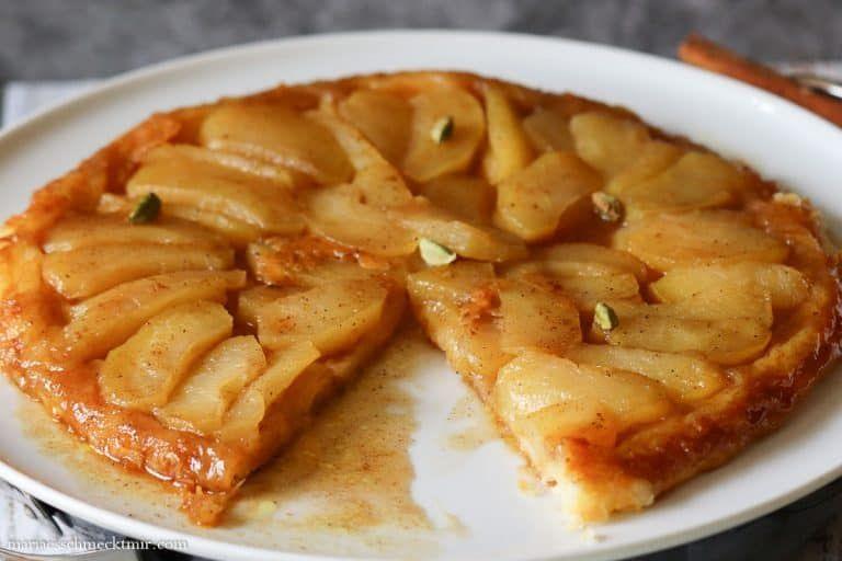 Tarte Tatin aus Blätterteig mit Zimt und Kardamom — Maria, es schmeckt mir!