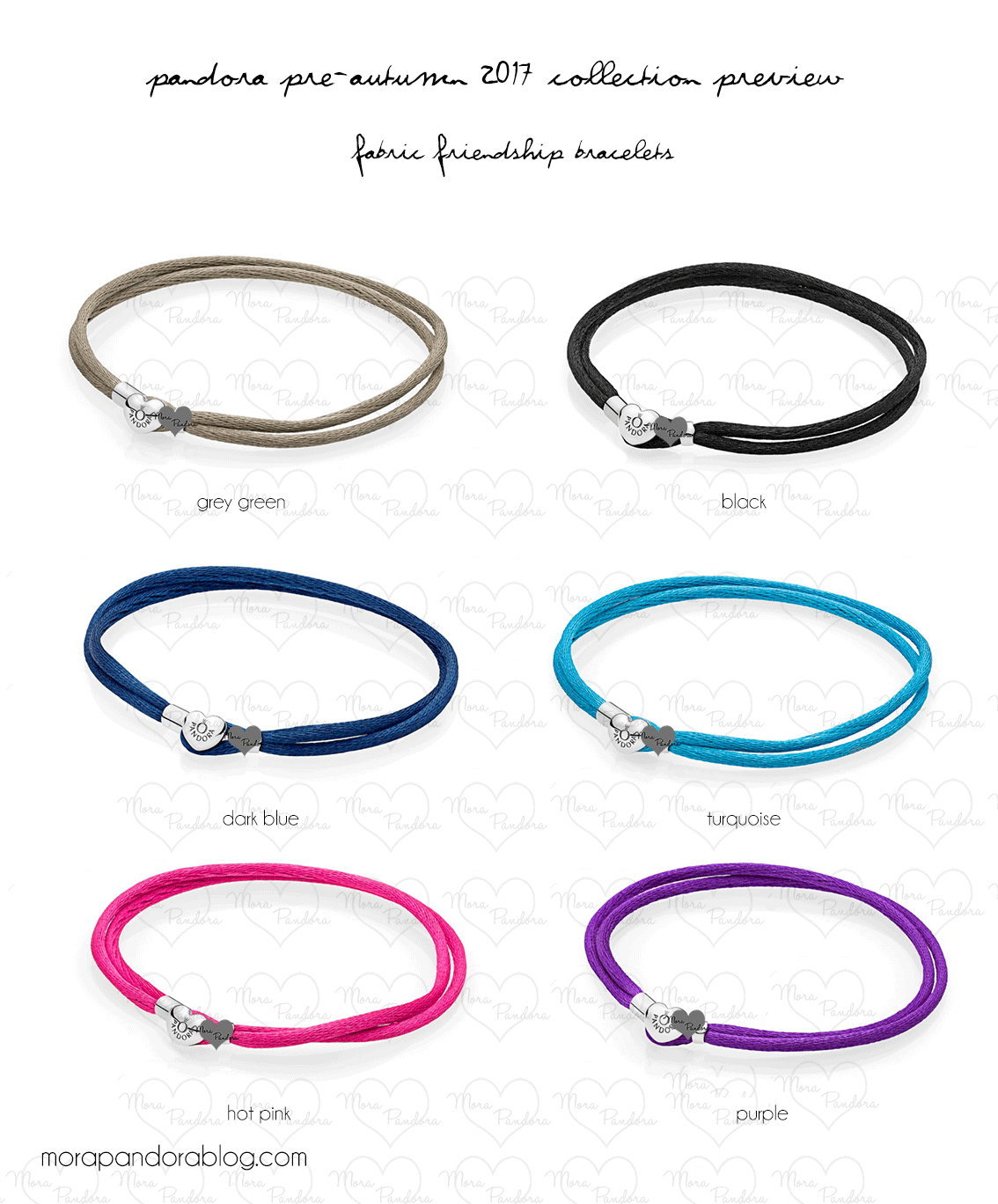 Pandora Pre Autumn 2017 Friendship Bracelets Preview Other Updates