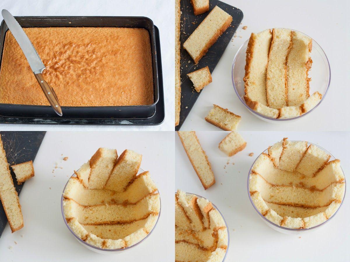 Ricetta Pan Di Spagna Per Zuccotto.Come Rivestire La Forma Dello Zuccotto Col Pan Di Spagna Dolci Freddi Dolci Pan Di Spagna