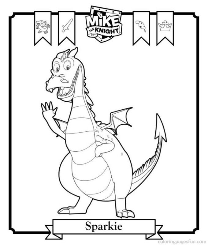 mike the knight coloring pages 4
