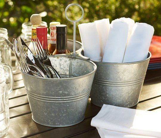 Bar grill style condiment and utensil caddies in 2019 - Grill utensil storage ideas ...
