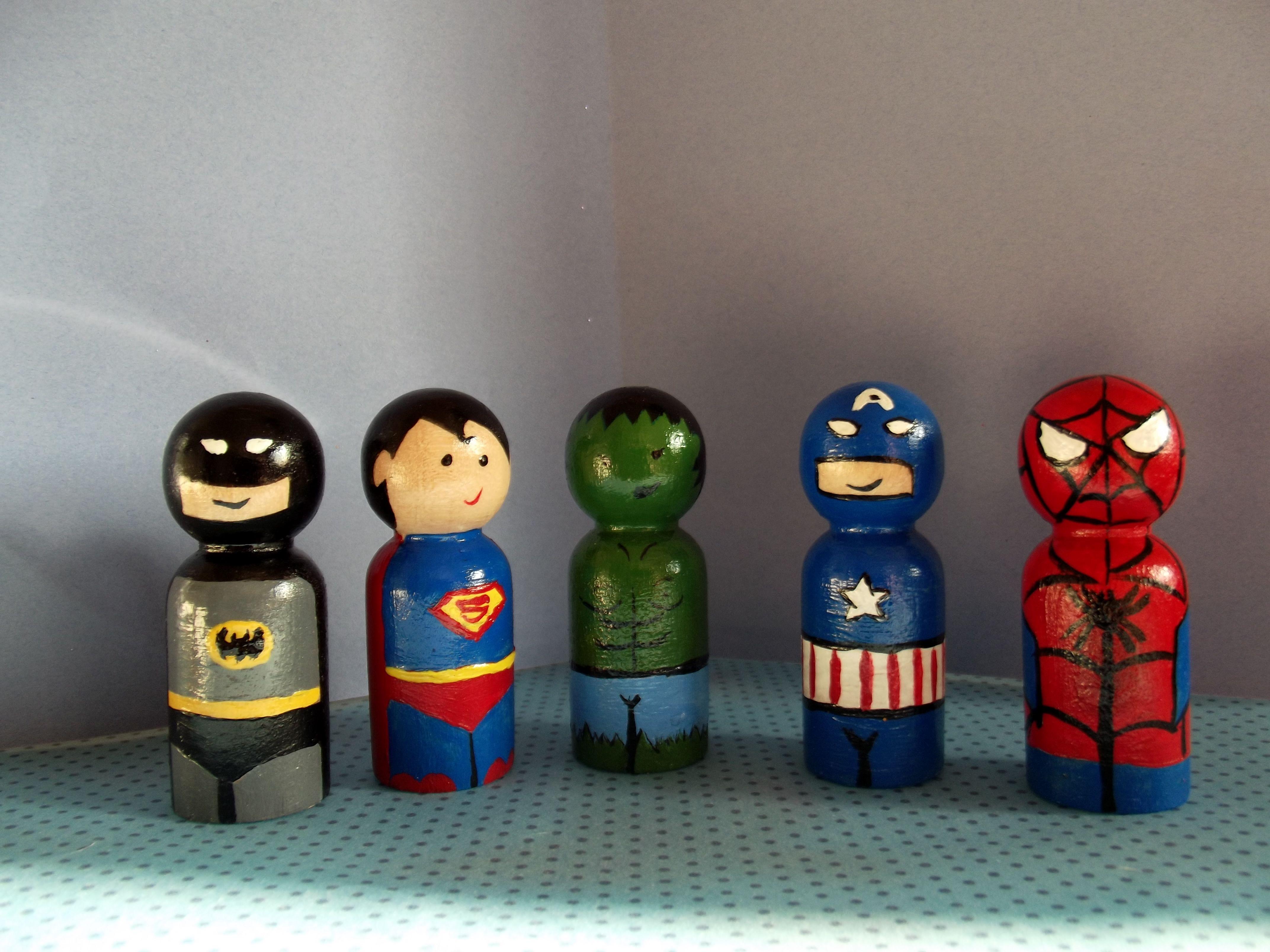 hero peg dolls....my first try x Mummy crafts, Peg