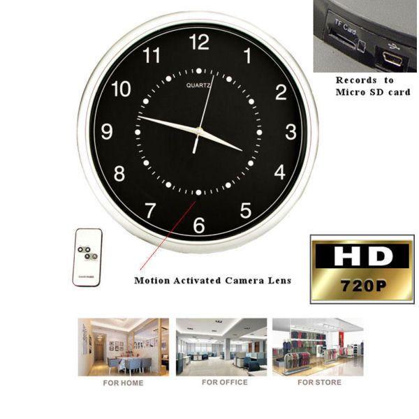 Wall Clock Hidden Camera Nanny Cam Security Recorder DVR Spy 32GB